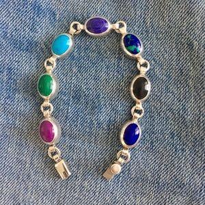 Sterling Silver Stone Bracelet